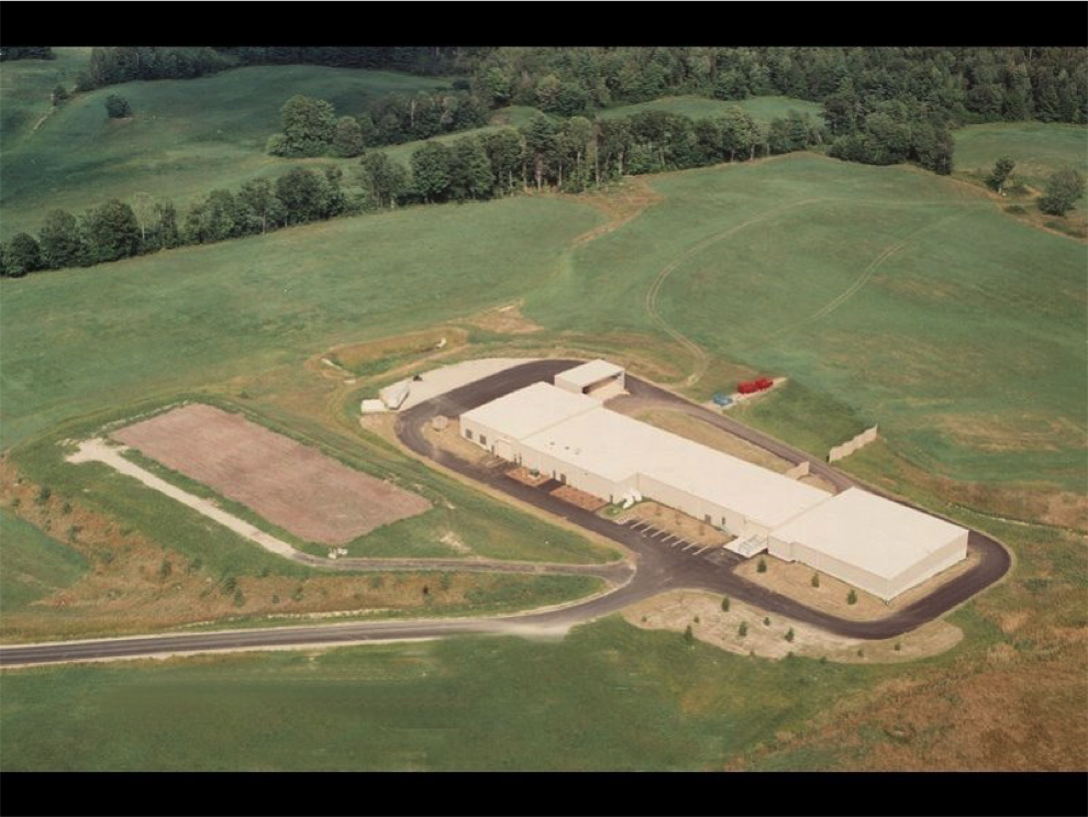 An early aerial (airplane) photo of the LAWPCA composting facility. Photo courtesy of LAWPCA.