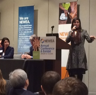 At the YP Summit, MA State Representative Carolyn Dykema encouraged involvement in public affairs.