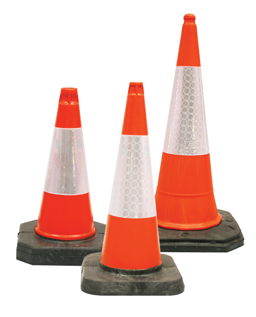 Traffic Cones - Reflective traffic cones to warn pedestrians and motorists of potential hazards.> PRICES FROM £6.00