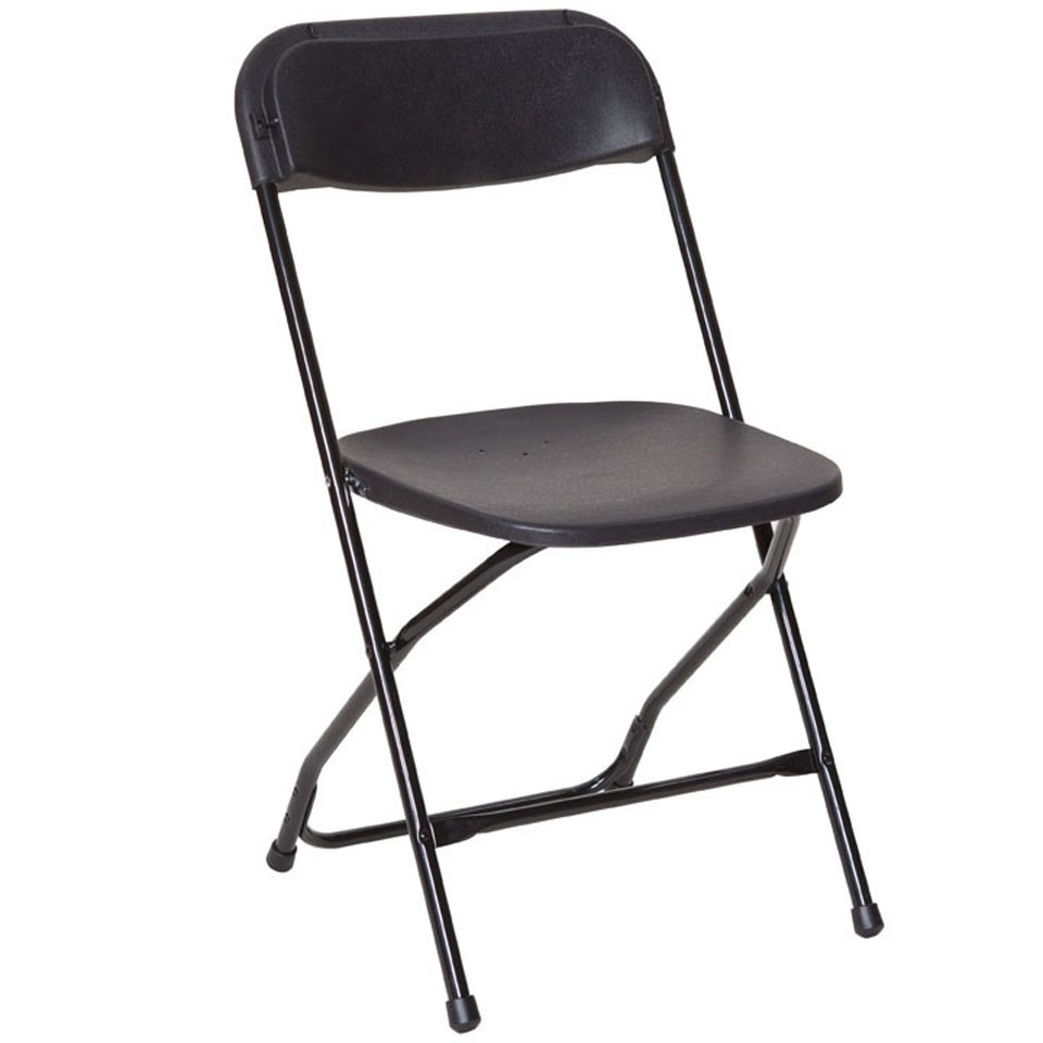 Plastic Folding Chair - Our black linking chairs are the ideal solution for event seating.> PRICES FROM £5.00