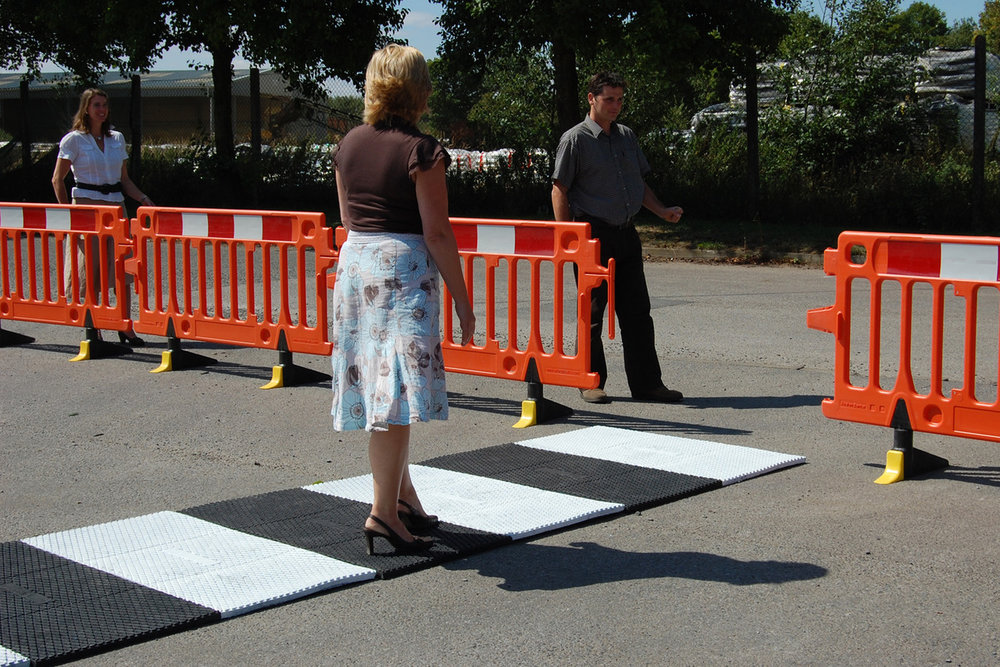 Temporary Zebra Crossing - This system is ideal for creating flat and safe walkways at events where there are pedestrians and vehicles crossing.> PRICES FROM £50.00