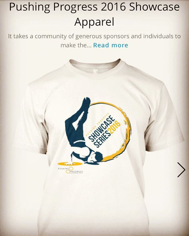 Pushing Progress friends and family! Purchase your 2016 Showcase Series t-shirt, hoodie, sweatshirt, or v-neck today to support us in producing this year's show + the generous artists who are coming together to share their creative voices. Follow the link {https://teespring.com/pushing-progress-2016-showcase} to show your support in style #pushingprogress #contemporarydance #showcaseseries #teespring #dance #supportartists #community