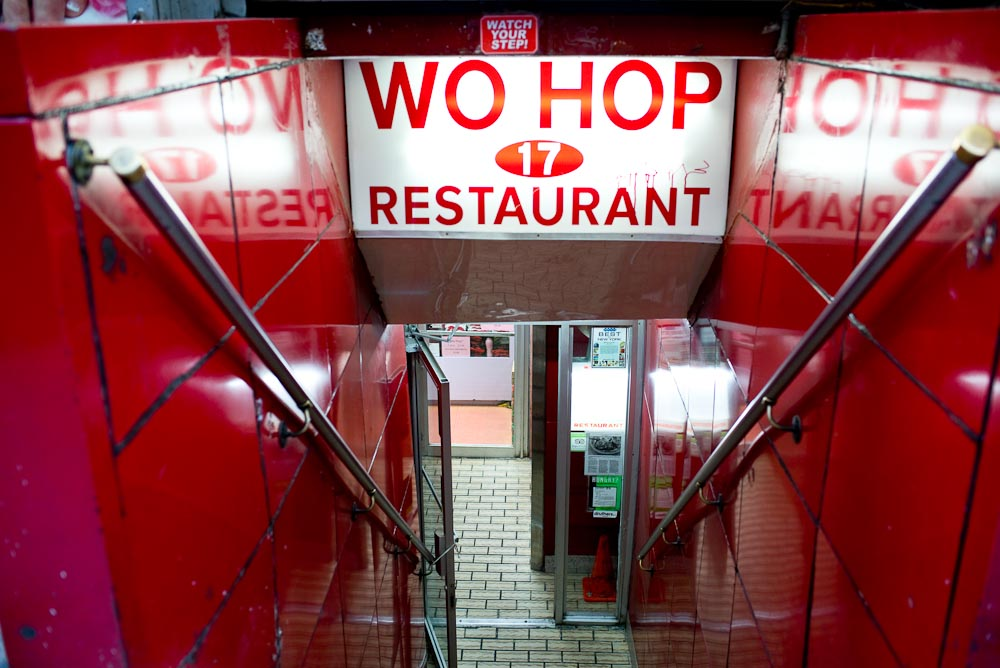 Take the stairs to the subterranean Wo Hop | Photo Credit: Find. Eat. Drink.