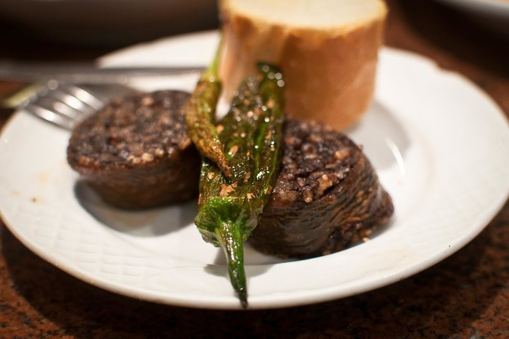 Morcilla and Peppers at Bar Goiz Argi | Photo Credit: Find. Eat. Drink.