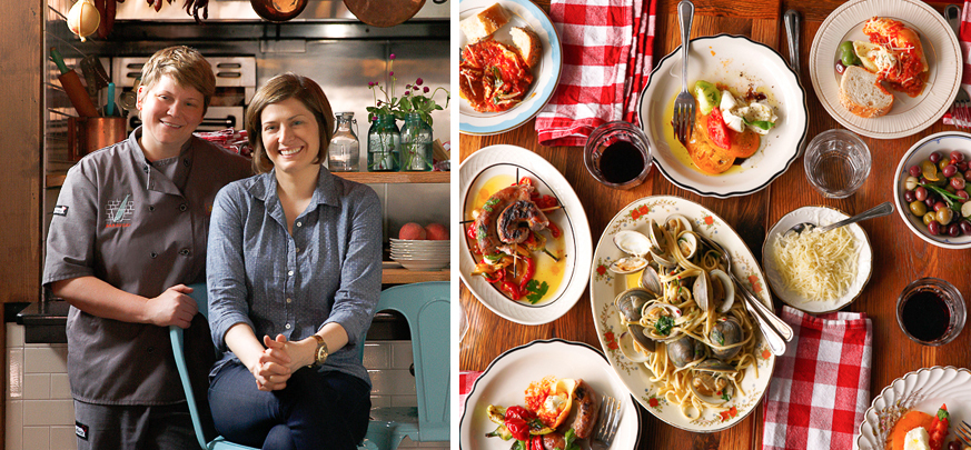 Chef Marcie Turney & Valerie Safran | Italian food at Nonna's ( Photo Credit: Jason Varney)