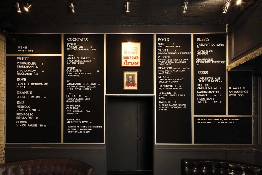 Menu at The Daily | Photograph courtesy of The Daily