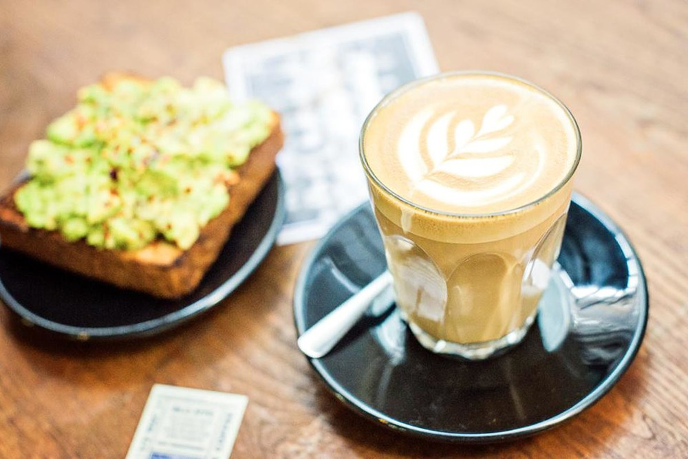 Flat White & Avocado on Toast at Bluestone Lane Collective | Photograph courtesy of BluestoneLane Collective