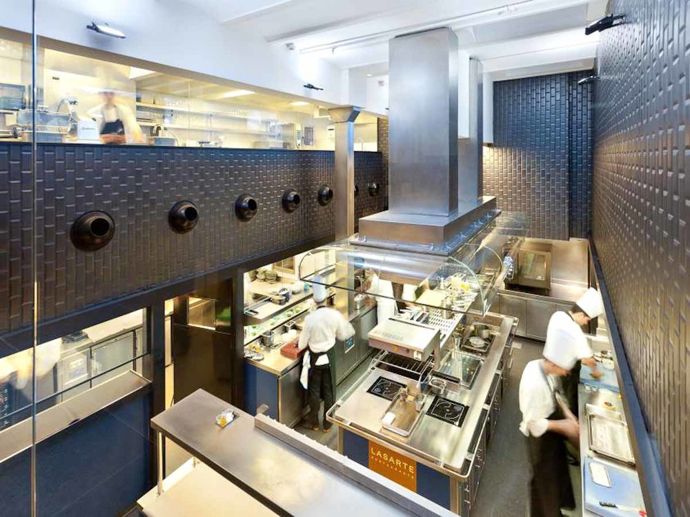 View of the kitchen | Photograph courtesy of Lasarte