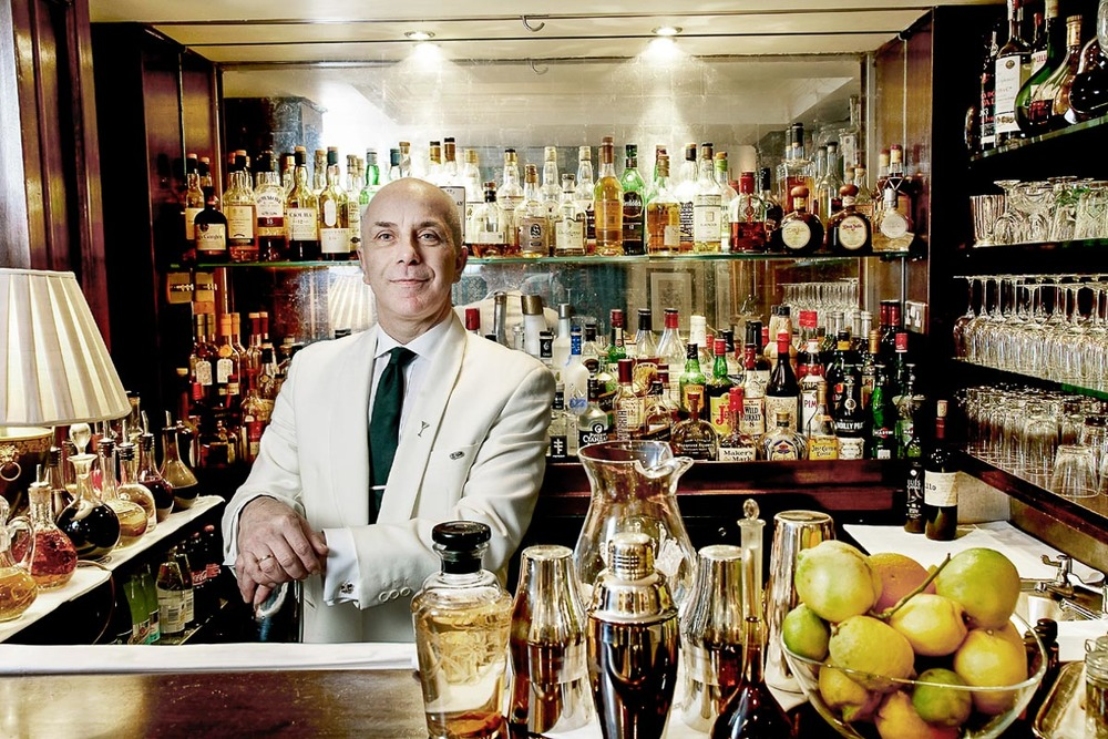 Barman Alessandro Palaazi at Dukes Bar | Photograph courtesy of Dukes Bar
