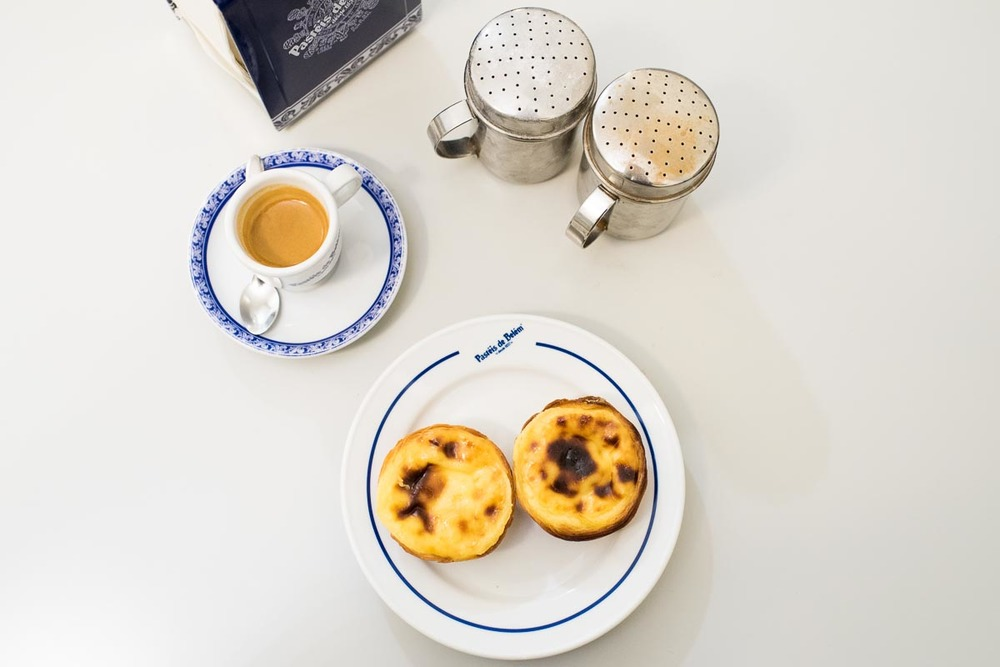 Café & Pastel de Nata at Pastéis de Belém | Photo Credit: Find. Eat. Drink.