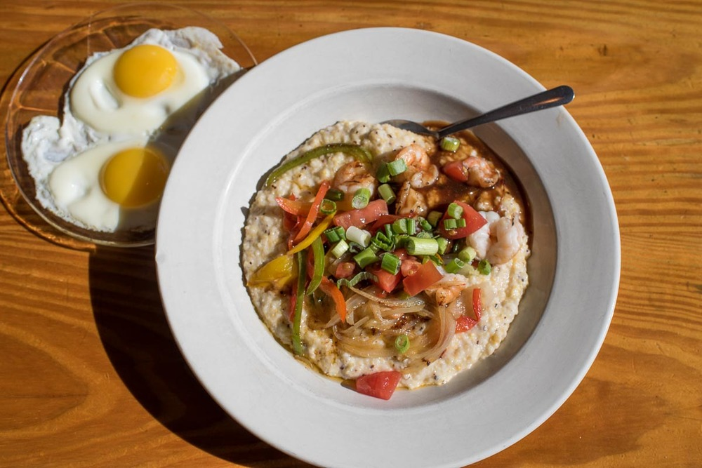 Shrimp & Grits at Marina Variety Store | Photo Credit: Find. Eat. Drink.