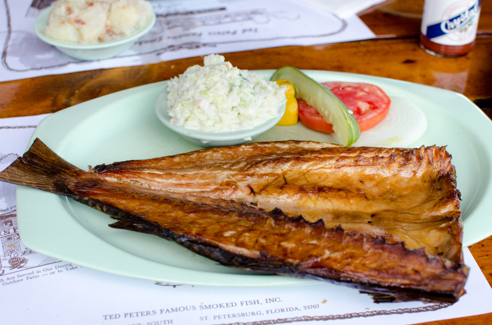 Smoked fish and cole slaw at Ted Peters | Photo Credit: ©Find. Eat. Drink.
