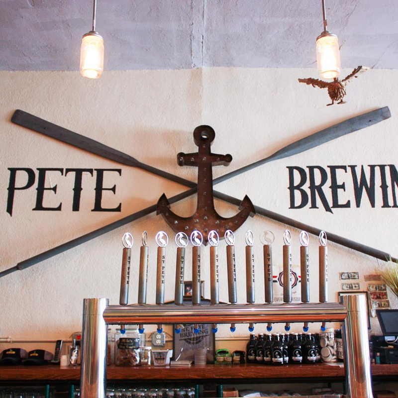 Photograph courtesy of St. Pete Brewing