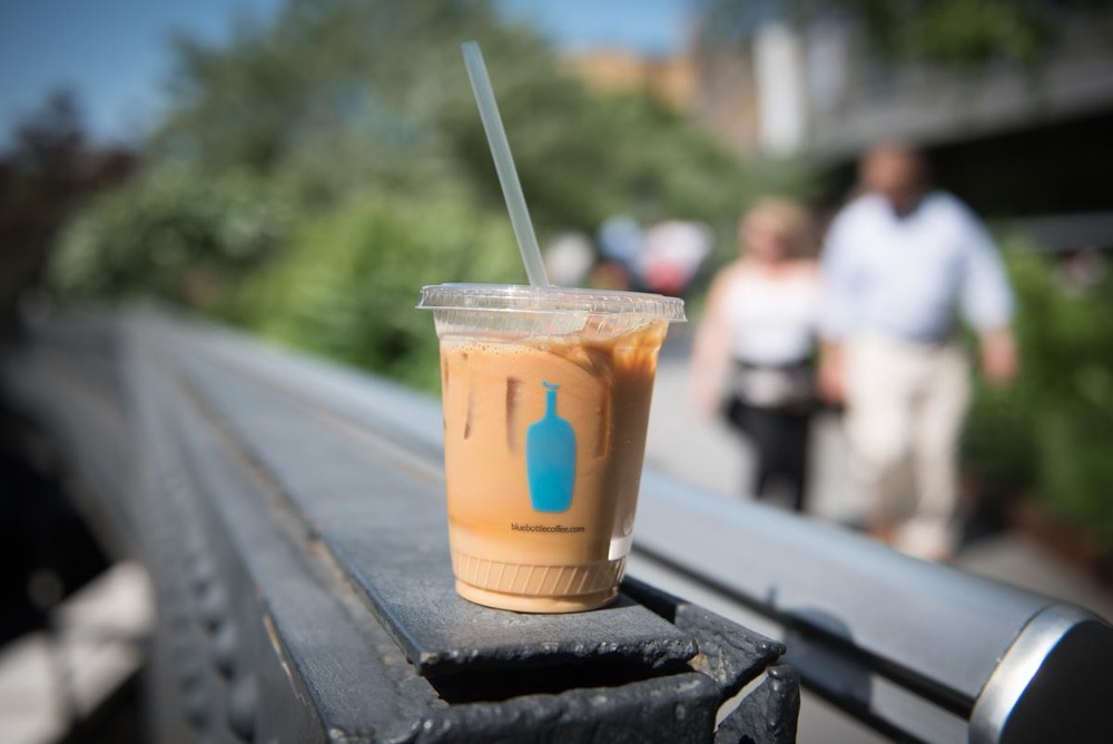 Blue Bottle Iced Coffee on the High Line | Photo Credit: ©Find. Eat. Drink.