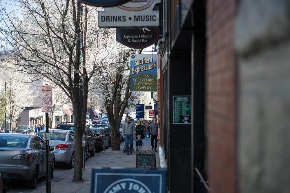 Biltmore Avenue in Asheville | Photo Credit: ©Find. Eat. Drink.
