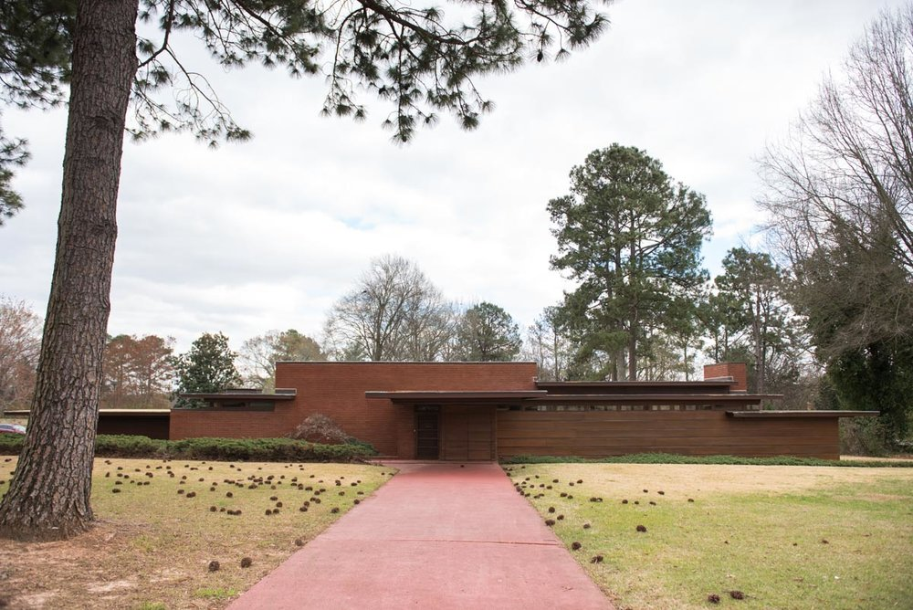 The Frank Lloyd Wright Rosenbaum House in Florence, AL | Photo Credit: ©Find. Eat. Drink.
