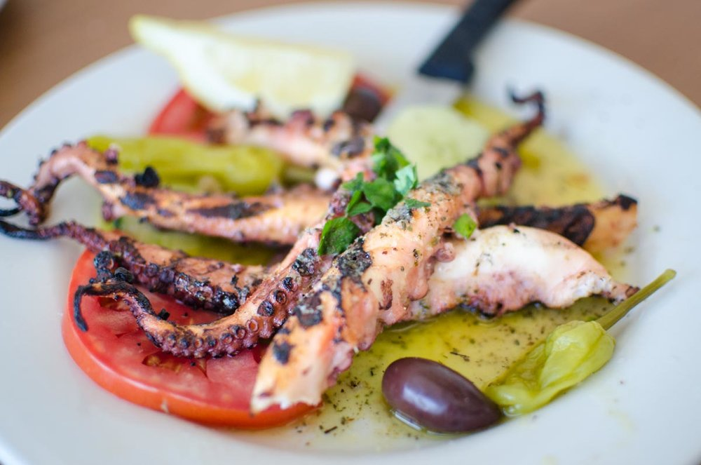 Grilled Octopus at Mykonos | Photo Credit: ©Find. Eat. Drink.