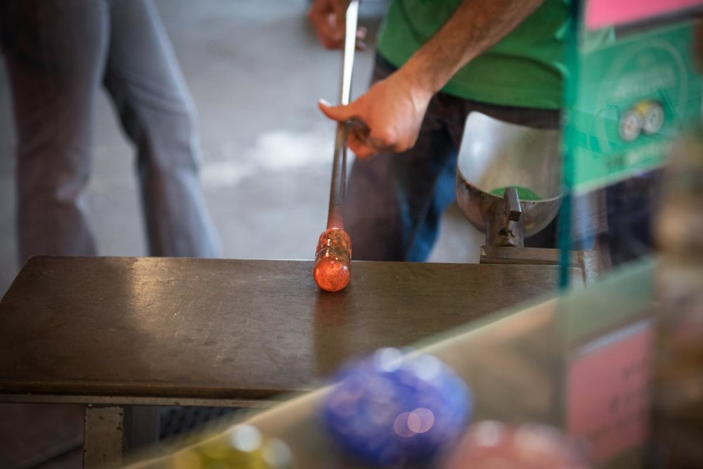Glass Blowing in the River Arts District | Photo Credit: ©Find. Eat. Drink.