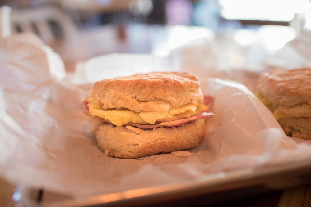 Breakfast biscuits at Scratch Biscuits