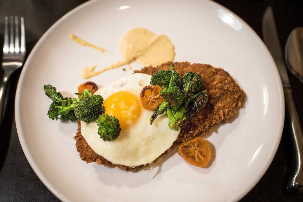 Lamb Schnitzel with a Fried Egg at The Shack in Staunton, VA | Photo Credit: ©Find. Eat. Drink.