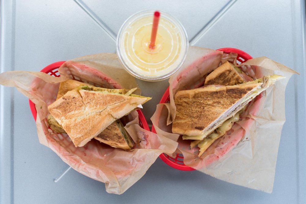 Cuban Sandwich and Vegetarian Sandwich paired with a Soda Fresca at Bodega on Central |  Photo Credit: ©Find. Eat. Drink
