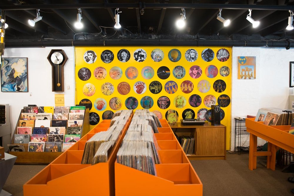 The bins at St. Pete Records |  Photo Credit: ©Find. Eat. Drink