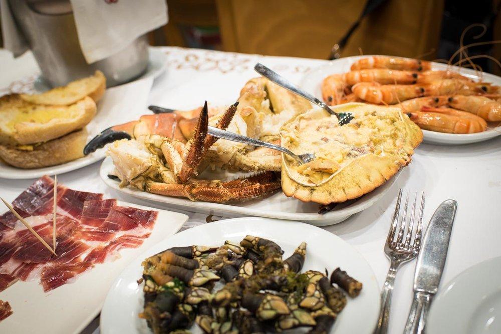 Gooseneck Barnacles, Pata Negra, Crab, Shrimp at Cervejaria Ramiro | Photo Credit: ©Find. Eat. Drink.