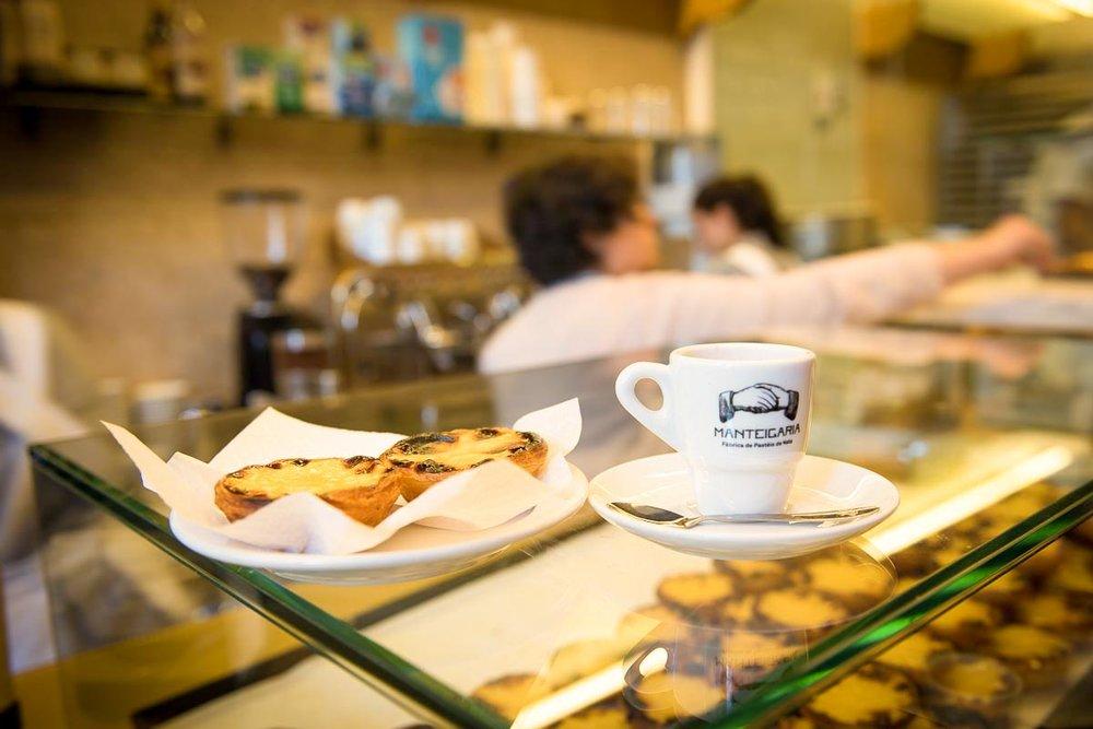 Café & Pastel de Nata at Manteigaria | Photo Credit: ©Find. Eat. Drink.