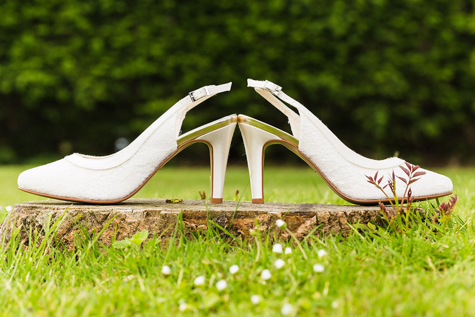 A Pair of Wedding shoes belonging to Jen the Bride for a Kentish Wedding
