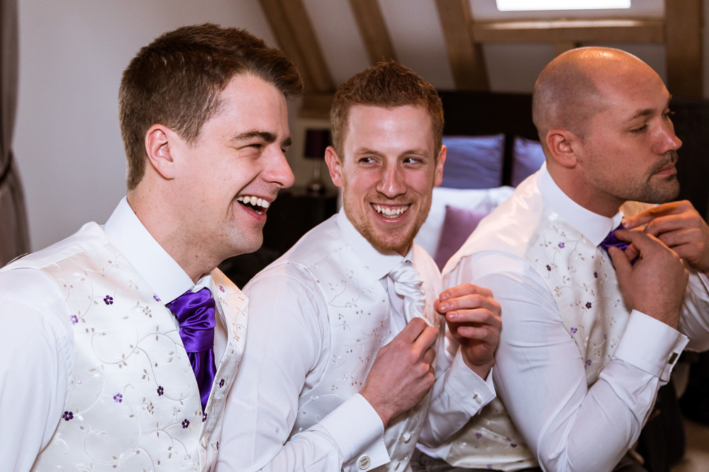 Rob & Nicola - Cooling Castle Barn - Kent - Wedding - Photographer - Edward Solly - Groom Prep