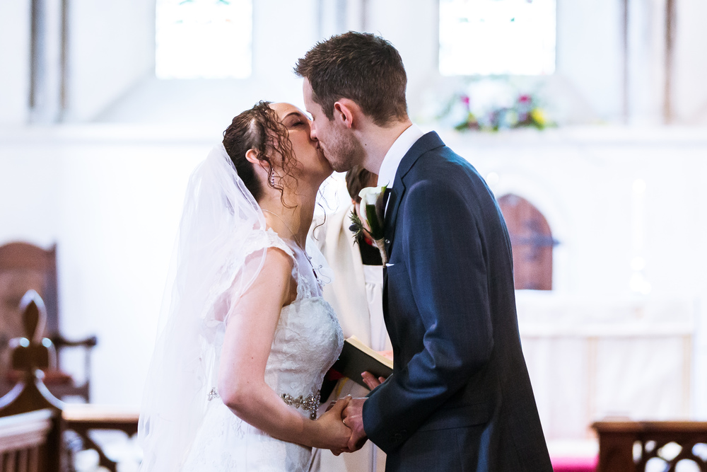 First Kiss - Wedding Photographer