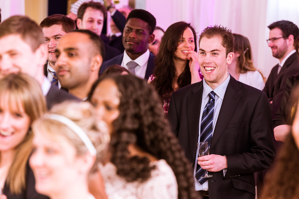 guest reactions to a wedding speech