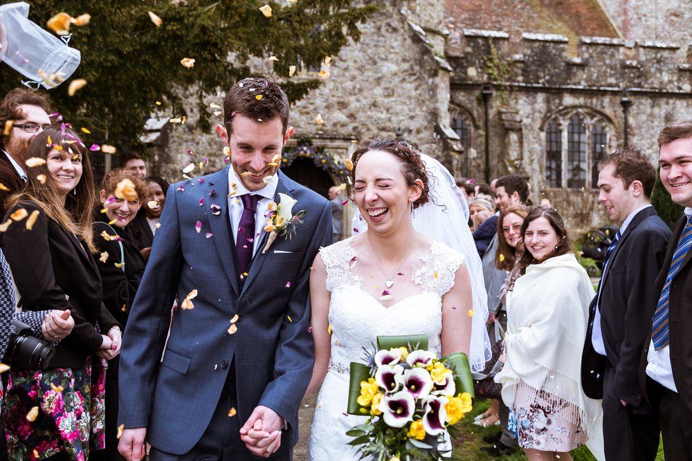 We organised the confetti shot for rob and verity to have just after their ceremony, we line everyone up each side and get them to throw it at the bride and groom as they walk past everyone on their wedding day