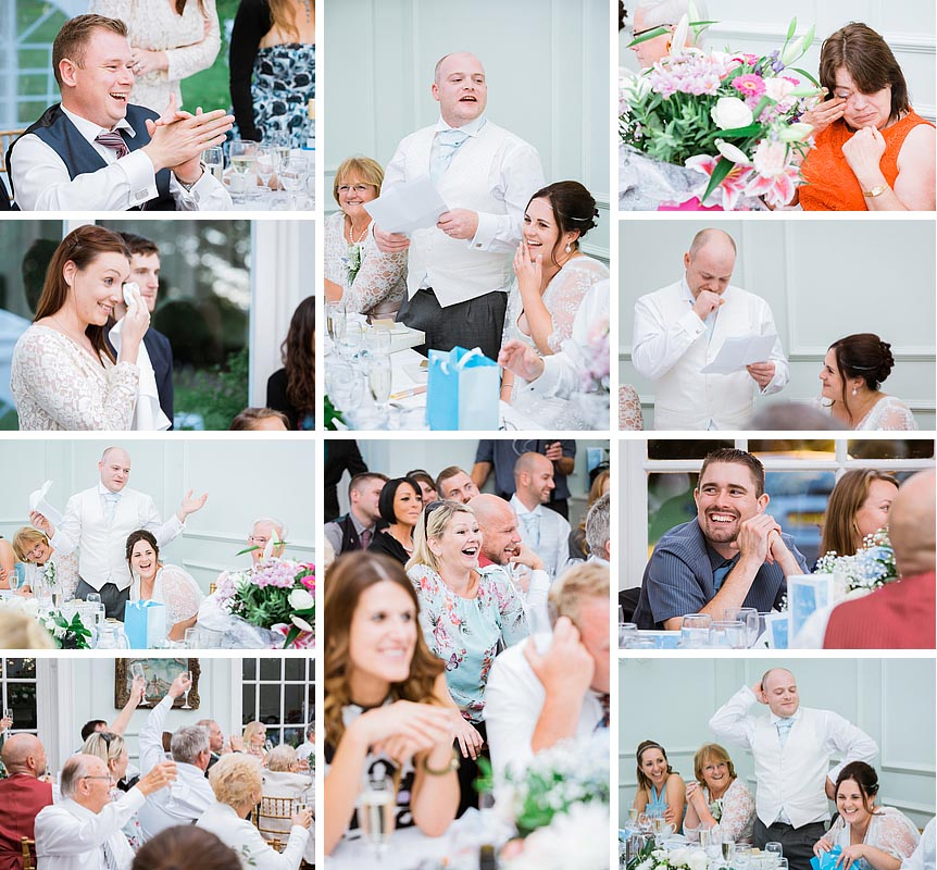 Speeches at a kent wedding