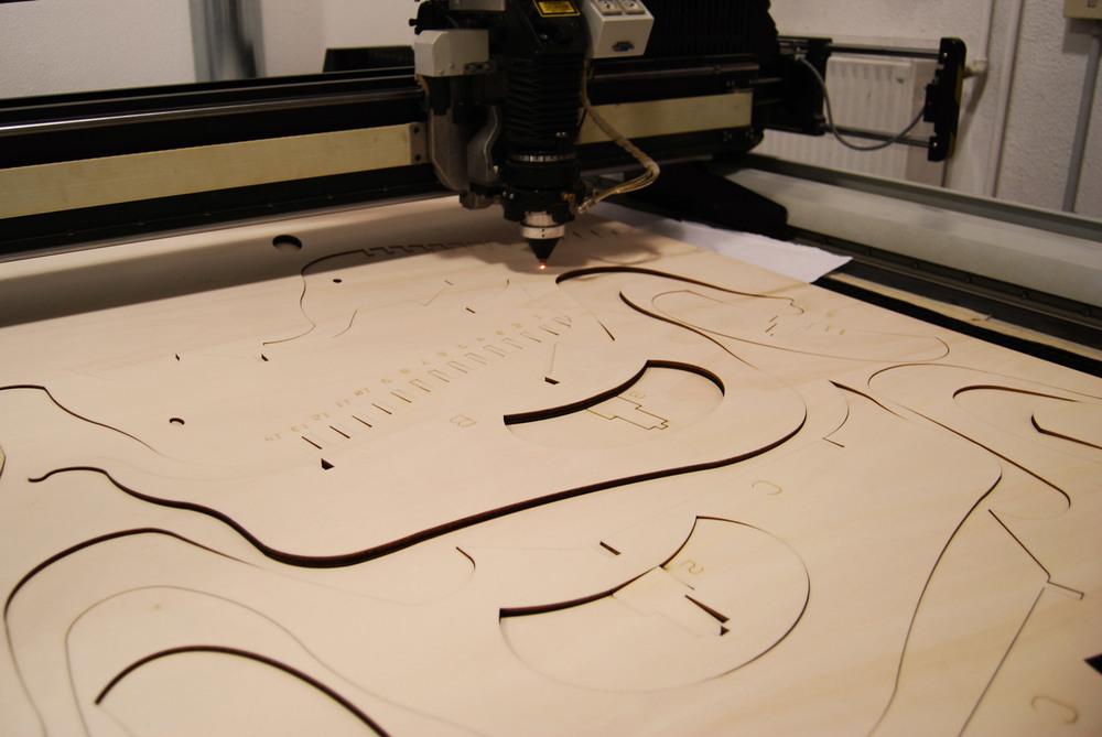 image of laser cutting