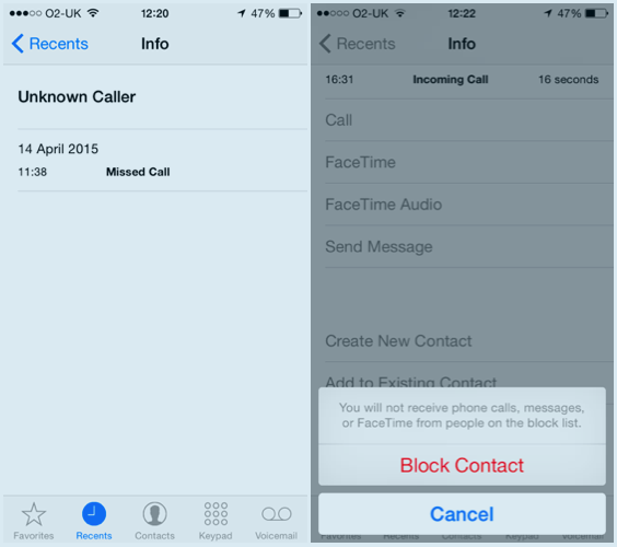 How to block a nuisance phone number