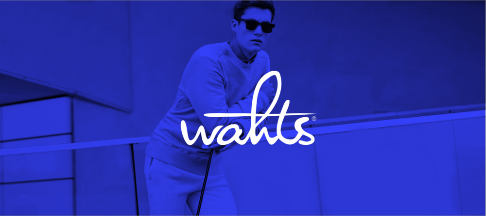 logo/corporate identity / packaging and webdesign for wahts, the underwear maker