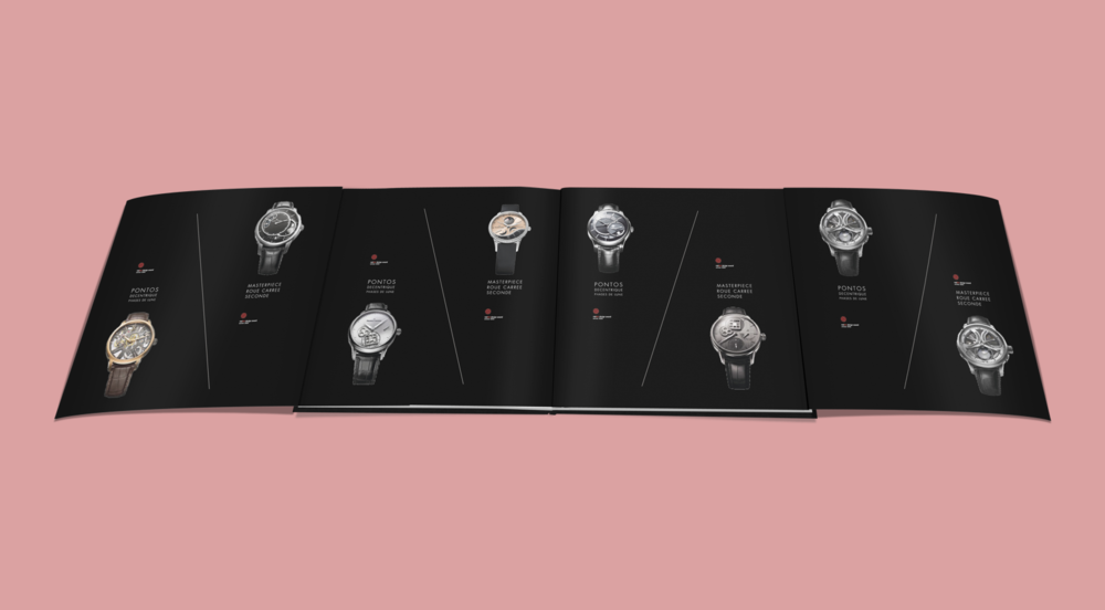 Collection book for Swiss luxury watch brand Maurice Lacroix