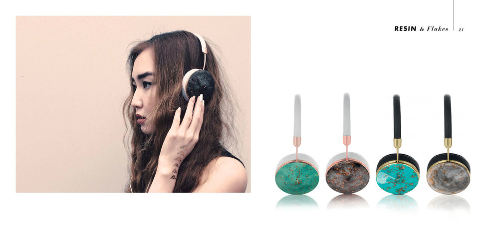 Headphone designs for FRENDS collabs with Zadig & Voltaire, Marc Jacobs, Baublebar, Rolls Royce, The Rolling Stones, Sass and bide and more....
