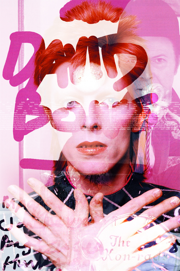 David Bowie in Pink