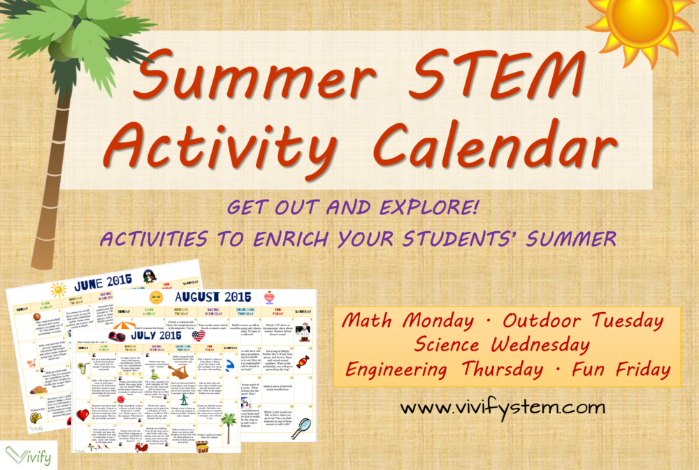 Summer STEM Activity Calendar