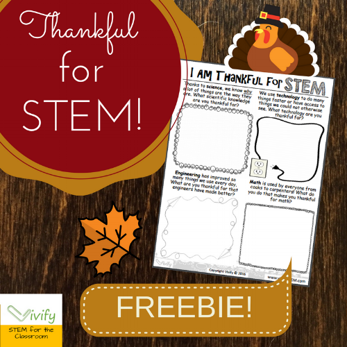 Click to download this free worksheet for your Thanksgiving STEM!