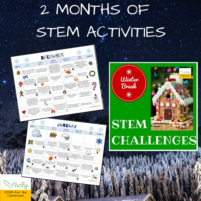 2 months of STEM activities to do with your kids over spring break! This makes a great gift to your students as well!