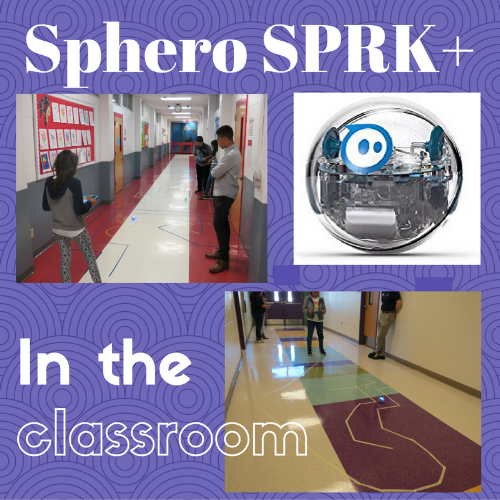 The Sphero SPRK+ robot can be a great lesson companion with applications ranging from math practice to computer programming!