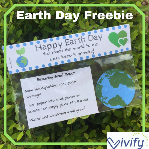 Earth Day Goodie Bags with seed paper!