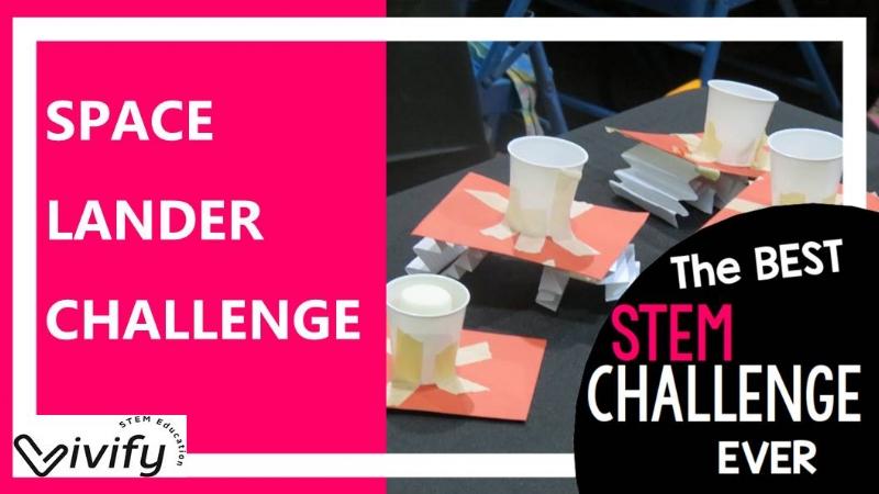 STEM space lander challenge. Best STEM challenge on TpT.