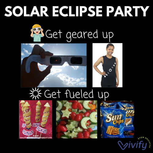 Host a Solar Eclipse Viewing party with these ideas from Vivify.