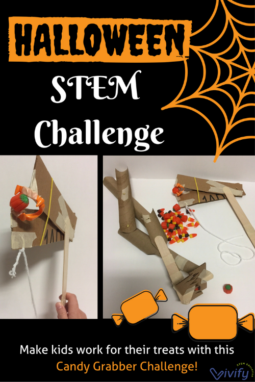 Get kids designing with the candy grabber STEM challenge this Halloween!