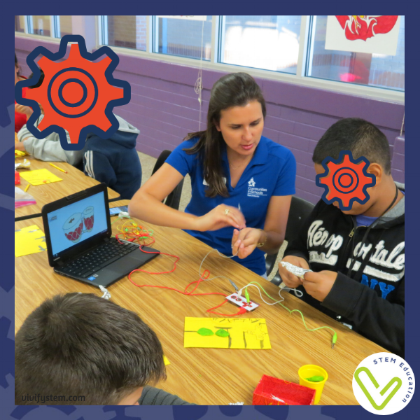 Local STEM professionals can volunteer to support students in hands-on STEM stations.