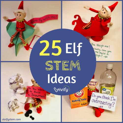 25 STEM ideas for the elf on the shelf